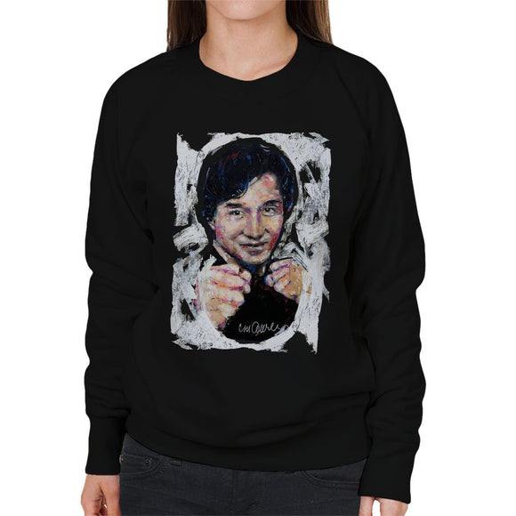 Sidney Maurer Original Portrait Of Jackie Chan Womens Sweatshirt - Womens Sweatshirt