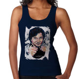 Sidney Maurer Original Portrait Of Jackie Chan Womens Vest - Small / Navy Blue - Womens Vest
