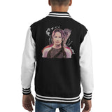 Sidney Maurer Original Portrait Of Jennifer Lawrence Hunger Games Kids Varsity Jacket - Kids Boys Varsity Jacket