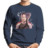 Sidney Maurer Original Portrait Of Jennifer Lawrence Hunger Games Mens Sweatshirt - Mens Sweatshirt