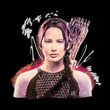 Sidney Maurer Original Portrait Of Jennifer Lawrence Hunger Games Womens T-Shirt - Womens T-Shirt