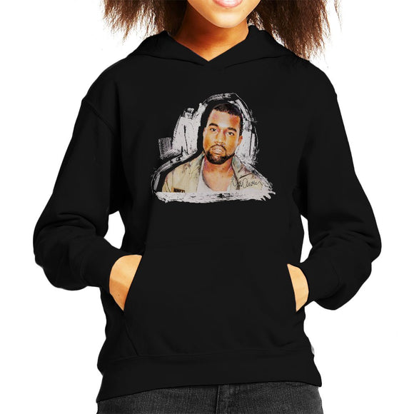 Sidney Maurer Original Portrait Of Kanye West Kids Hooded Sweatshirt - Kids Boys Hooded Sweatshirt