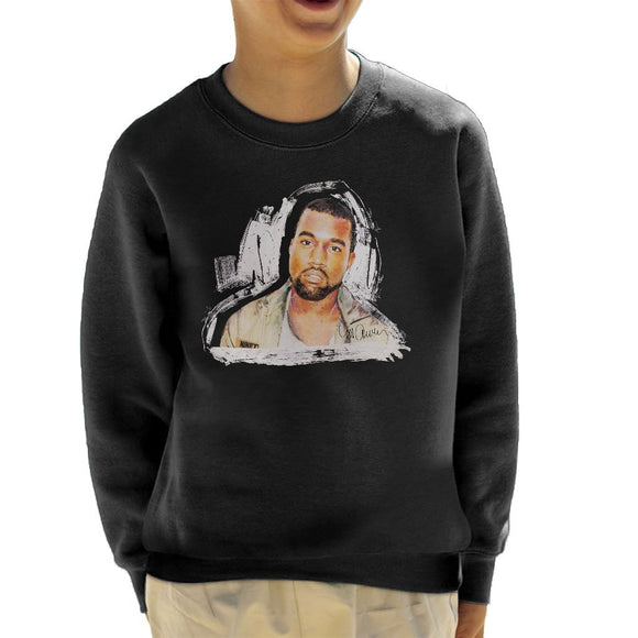 Sidney Maurer Original Portrait Of Kanye West Kids Sweatshirt - Kids Boys Sweatshirt