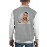 Sidney Maurer Original Portrait Of Kanye West Kids Varsity Jacket - Kids Boys Varsity Jacket