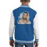 Sidney Maurer Original Portrait Of Kanye West Kids Varsity Jacket - X-Small (3-4 yrs) / Royal/White - Kids Boys Varsity Jacket