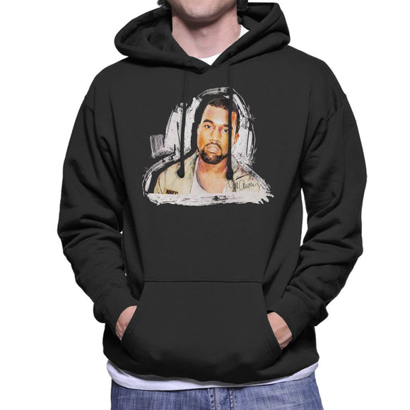 Sidney Maurer Original Portrait Of Kanye West Mens Hooded Sweatshirt - Mens Hooded Sweatshirt