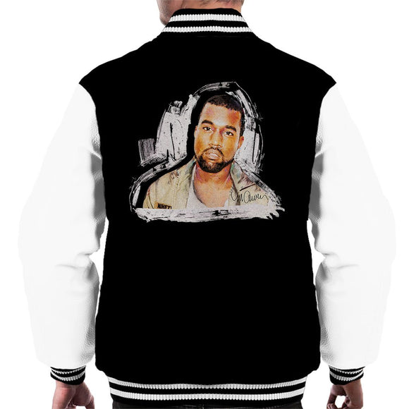 Sidney Maurer Original Portrait Of Kanye West Mens Varsity Jacket - Mens Varsity Jacket