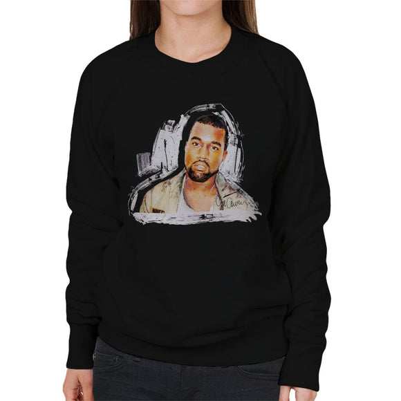 Sidney Maurer Original Portrait Of Kanye West Womens Sweatshirt - Womens Sweatshirt
