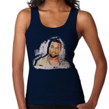 Sidney Maurer Original Portrait Of Kanye West Womens Vest - Small / Navy Blue - Womens Vest