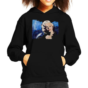 Sidney Maurer Original Portrait Of Marilyn Monroe Blonde Bombshell Kids Hooded Sweatshirt - Kids Boys Hooded Sweatshirt