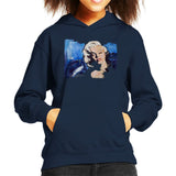 Sidney Maurer Original Portrait Of Marilyn Monroe Blonde Bombshell Kids Hooded Sweatshirt - X-Small (3-4 yrs) / Navy Blue - Kids Boys Hooded