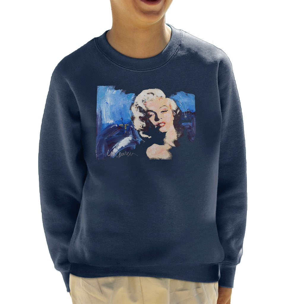 cheap for discount a29d4 81e1b Sidney Maurer Original Portrait Of Marilyn Monroe Blonde Bombshell Kid's  Sweatshirt