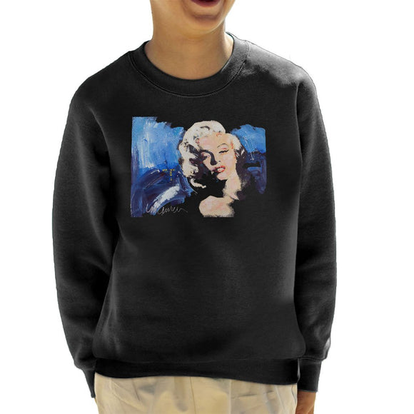 Sidney Maurer Original Portrait Of Marilyn Monroe Blonde Bombshell Kids Sweatshirt - Kids Boys Sweatshirt