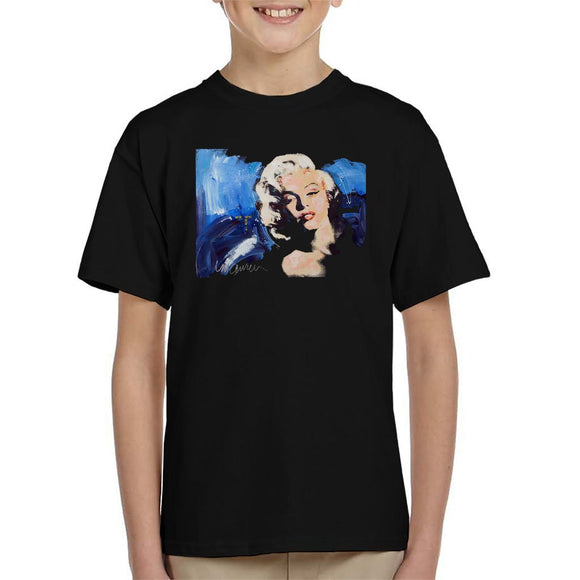 Sidney Maurer Original Portrait Of Marilyn Monroe Blonde Bombshell Kids T-Shirt - Kids Boys T-Shirt