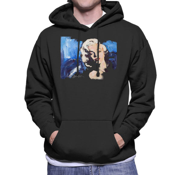 Sidney Maurer Original Portrait Of Marilyn Monroe Blonde Bombshell Mens Hooded Sweatshirt - Mens Hooded Sweatshirt