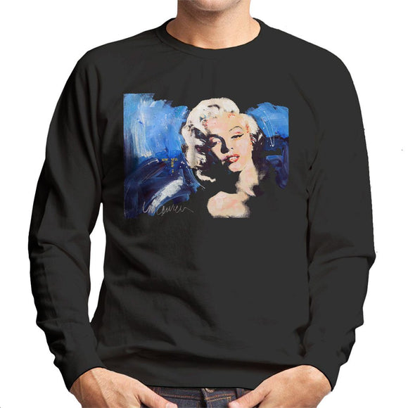 Sidney Maurer Original Portrait Of Marilyn Monroe Blonde Bombshell Mens Sweatshirt - Mens Sweatshirt