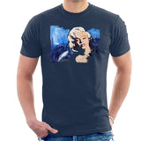 Sidney Maurer Original Portrait Of Marilyn Monroe Blonde Bombshell Mens T-Shirt - Small / Navy Blue - Mens T-Shirt
