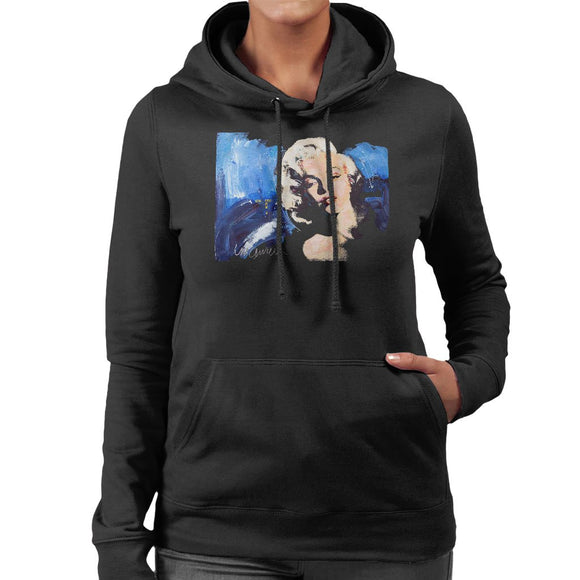 Sidney Maurer Original Portrait Of Marilyn Monroe Blonde Bombshell Womens Hooded Sweatshirt - Womens Hooded Sweatshirt