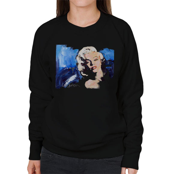 Sidney Maurer Original Portrait Of Marilyn Monroe Blonde Bombshell Womens Sweatshirt - Womens Sweatshirt