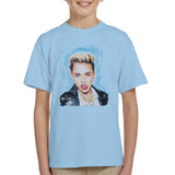 Sidney Maurer Original Portrait Of Miley Cyrus Licking Lips Kids T-Shirt - Kids Boys T-Shirt