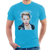 Sidney Maurer Original Portrait Of Miley Cyrus Licking Lips Mens T-Shirt - Mens T-Shirt