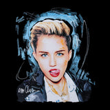 Sidney Maurer Original Portrait Of Miley Cyrus Licking Lips Mens Vest - Mens Vest