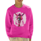 Sidney Maurer Original Portrait Of Michael Jackson This Is It Kids Sweatshirt - X-Small (3-4 yrs) / Hot Pink - Kids Boys Sweatshirt