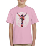 Sidney Maurer Original Portrait Of Michael Jackson This Is It Kids T-Shirt - X-Small (3-4 yrs) / Light Pink - Kids Boys T-Shirt