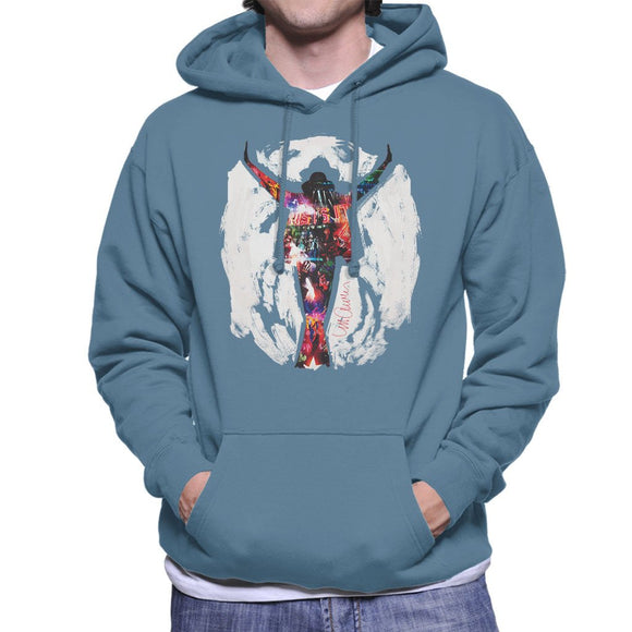 Sidney Maurer Original Portrait Of Michael Jackson This Is It Mens Hooded Sweatshirt - Mens Hooded Sweatshirt
