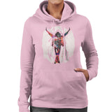 Sidney Maurer Original Portrait Of Michael Jackson This Is It Womens Hooded Sweatshirt - Small / Light Pink - Womens Hooded Sweatshirt