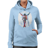 Sidney Maurer Original Portrait Of Michael Jackson This Is It Womens Hooded Sweatshirt - Womens Hooded Sweatshirt