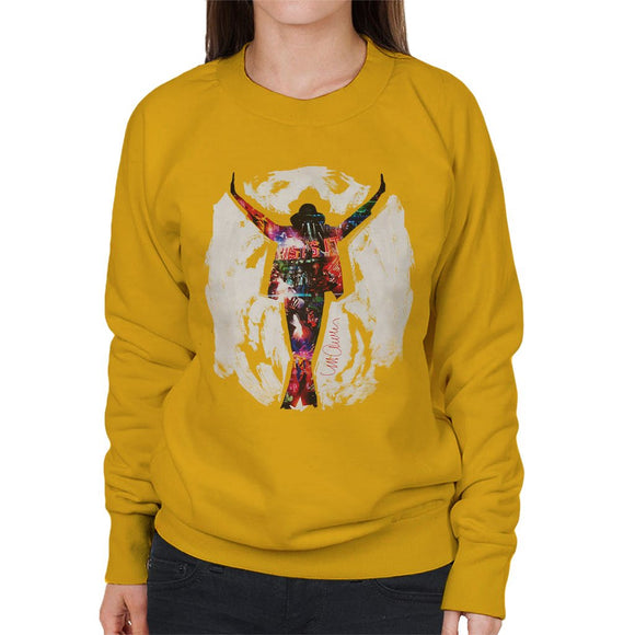 Sidney Maurer Original Portrait Of Michael Jackson This Is It Womens Sweatshirt - Womens Sweatshirt