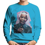 Sidney Maurer Original Portrait Of Nelson Mandela Mens Sweatshirt - Mens Sweatshirt