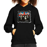 Sidney Maurer Original Portrait Of Queen Union Jack Kids Hooded Sweatshirt - Kids Boys Hooded Sweatshirt