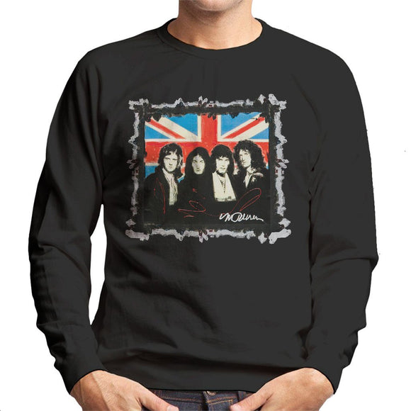 Sidney Maurer Original Portrait Of Queen Union Jack Mens Sweatshirt - Mens Sweatshirt