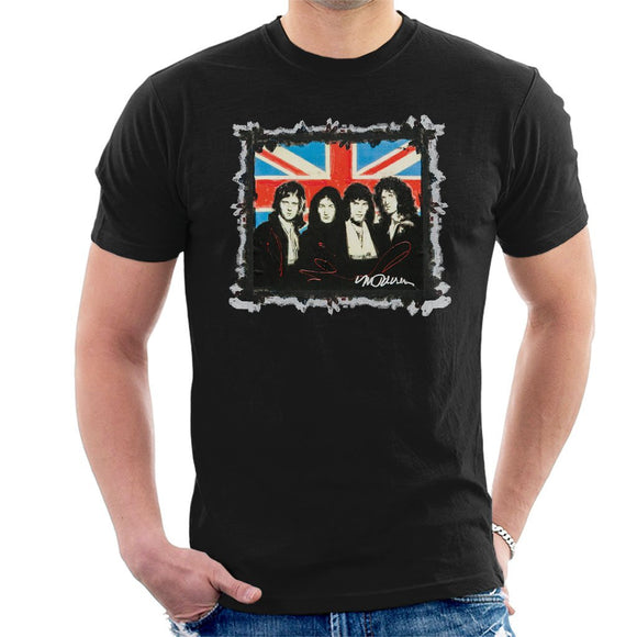 Sidney Maurer Original Portrait Of Queen Union Jack Mens T-Shirt - Mens T-Shirt