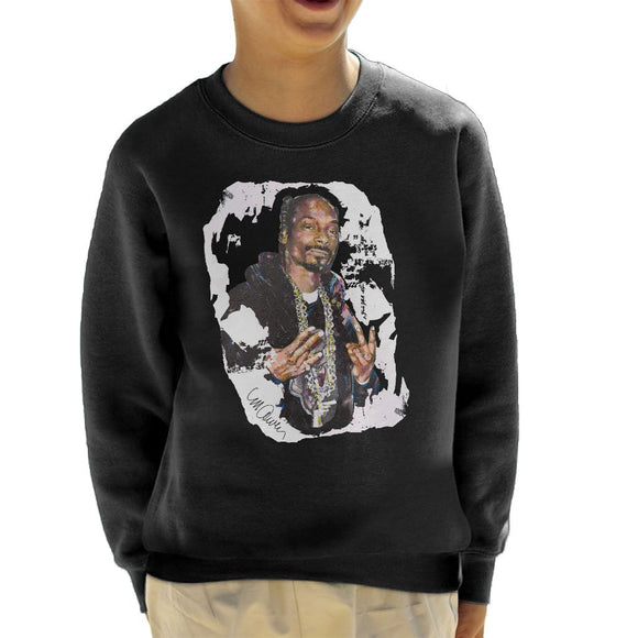Sidney Maurer Original Portrait Of Snoop Dogg Kids Sweatshirt - Kids Boys Sweatshirt