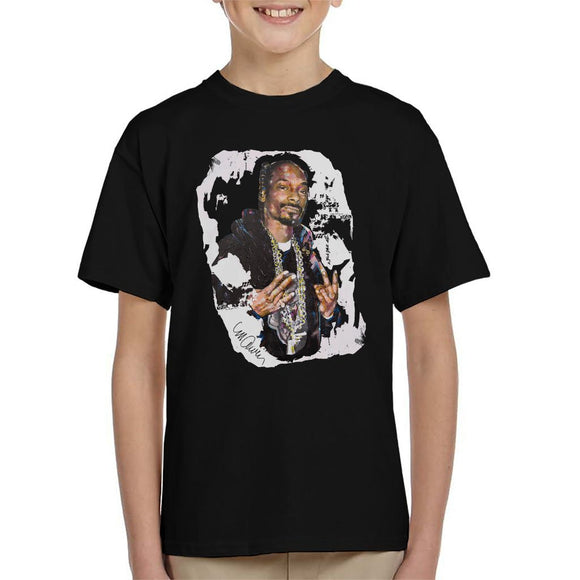 Sidney Maurer Original Portrait Of Snoop Dogg Kids T-Shirt - Kids Boys T-Shirt