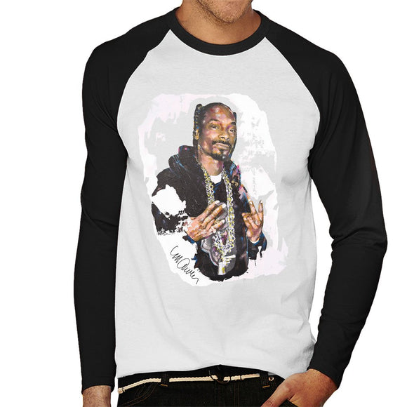 Sidney Maurer Original Portrait Of Snoop Dogg Mens Baseball Long Sleeved T-Shirt - Mens Baseball Long Sleeved T-Shirt