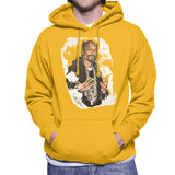 Sidney Maurer Original Portrait Of Snoop Dogg Mens Hooded Sweatshirt - Small / Gold - Mens Hooded Sweatshirt