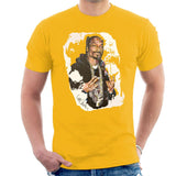 Sidney Maurer Original Portrait Of Snoop Dogg Mens T-Shirt - Small / Gold - Mens T-Shirt