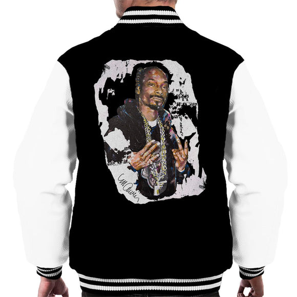 Sidney Maurer Original Portrait Of Snoop Dogg Mens Varsity Jacket - Mens Varsity Jacket