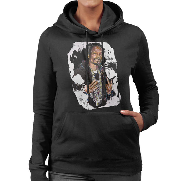 Sidney Maurer Original Portrait Of Snoop Dogg Womens Hooded Sweatshirt - Womens Hooded Sweatshirt
