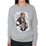 Sidney Maurer Original Portrait Of Snoop Dogg Womens Sweatshirt - Womens Sweatshirt