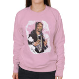 Sidney Maurer Original Portrait Of Snoop Dogg Womens Sweatshirt - Small / Light Pink - Womens Sweatshirt