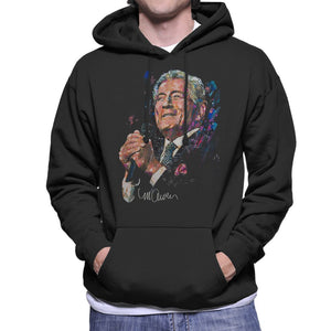 Sidney Maurer Original Portrait Of Tony Bennett Mens Hooded Sweatshirt - Mens Hooded Sweatshirt