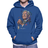 Sidney Maurer Original Portrait Of Tony Bennett Mens Hooded Sweatshirt - Small / Royal Blue - Mens Hooded Sweatshirt