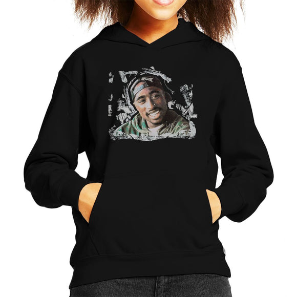 Sidney Maurer Original Portrait Of Tupac Shakur Kids Hooded Sweatshirt - Kids Boys Hooded Sweatshirt