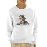 Sidney Maurer Original Portrait Of Tupac Shakur Kids Sweatshirt - Kids Boys Sweatshirt