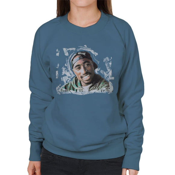 Sidney Maurer Original Portrait Of Tupac Shakur Womens Sweatshirt - Womens Sweatshirt